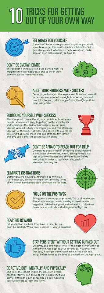 10 Tricks for getting out of your own way
